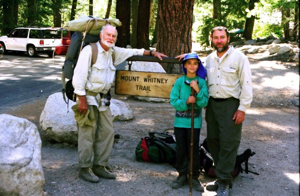 My grandfather, my father and I after finishing a successful climb of Mt. Whitney