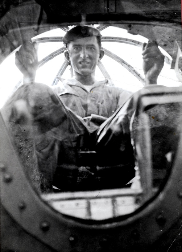 Hyman Wishkin Army Air Corps circa 1944 in bombadier position B-17