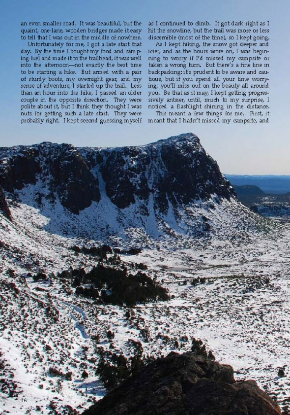 Tasmania and the Spirit of Solitude | Excerpt from the Tufts Traveler | Isaac Freeman Tufts_Page_2