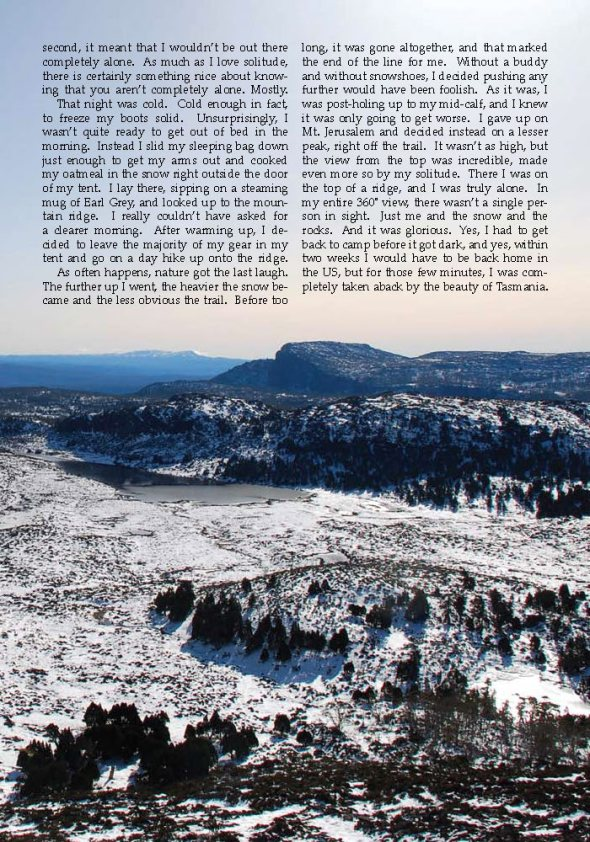 Tasmania and the Spirit of Solitude | Excerpt from the Tufts Traveler | Isaac Freeman Tufts_Page_3