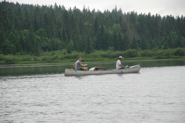 Paul and Kenzan in Grumman Canoe