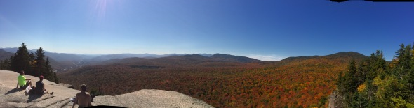 Panorama from the summit of Mount Pemigewasset (Indian Head) in the White Monutains.  It was a beautiful day, and others were there taking in the view as well.